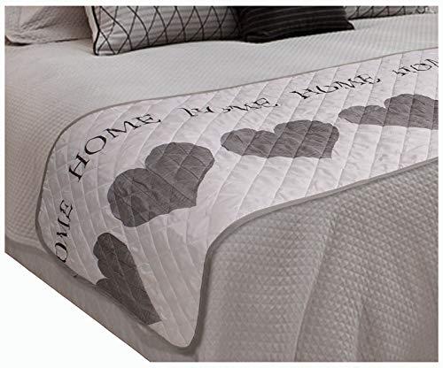 heimtexland ® Bettläufer Bettüberwurf gesteppt 65x250 Tagesdecke Landhaus Home Herzen Überwurf Typ579