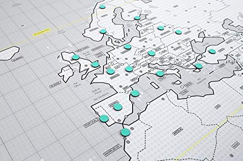 Mapnético Mapa del Mundo magnético de diseño con imanes. Señala Tus Viajes por el...