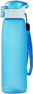 MYD888 Botella Isotérmica Capa Botella del Agua Deporte Plastico con Bidón para Bicicleta Botella de Spray Deportivo 660ML,Blue
