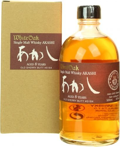 Akashi White Oak 8 Years Single Malt Japanese Whisky 50% 0,5l Flasche