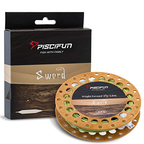 Piscifun Sword Weight Forward Floating Fly Fishing Line with Welded...