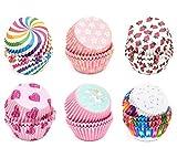 ZJW 600pcs Papel para Magdalenas, Papel Molde Muffin Cases, Papel para Cupcakes Capsulas C...