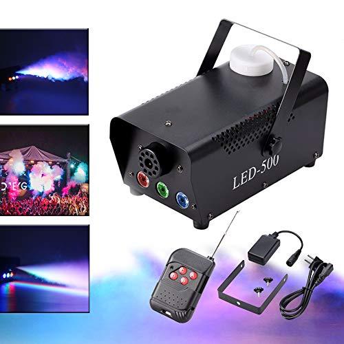 KT Stage Light Mini Rauchmaschine 500W 3LED Rauchmaschine Schwarz RGB Nebel Maschine Vertikal-Nebelmaschine für verschiedene Festivals Party Bar Disco Clubs Hochzeit Szene