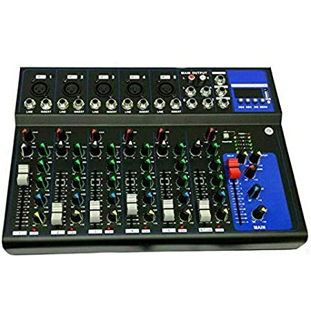 MIXER AUDIO 7 CANALI PROFESSIONALE USB CON ECHO DELAY DJ KARAOKE PIANOBAR LIVE