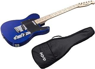 Monoprice Indio Retro Classic Electric Guitar - Blue, With Gig Bag