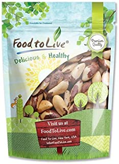 Raw Brazil Nuts, 8 Ounces - Whole, No Shell, Unsalted