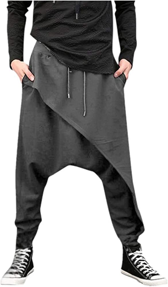 Mens Sweatpants F_Gotal Raleigh Mall Men's Casual Plain Elastic W Max 60% OFF Baggy