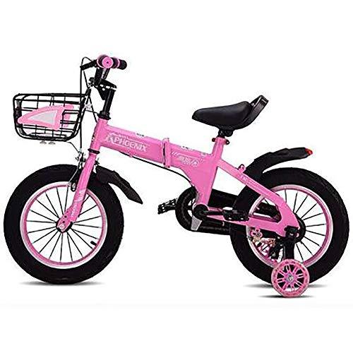 Kinderfiets voor meisjes en jongens, stalen kinderfiets met een hoog koolstofgehalte met voormand en trainingsfietsen voor kinderen van 2 tot 10 jaar, 12 inch (16 cm/18 inch).