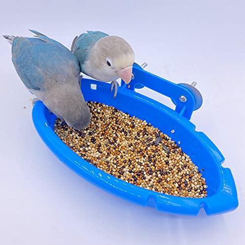 HAOXIU Pajarera bañera para loros, pajarera, caja de alimentación con forma de peonía, jaula para pájaros, ducha, bañera, bañera, accesorios