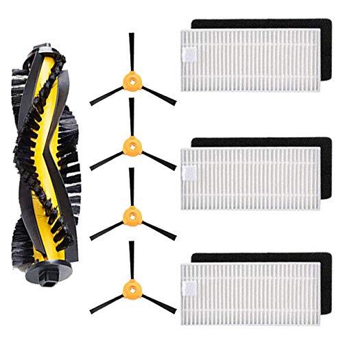 N / A Youriaa Kit de remplacement brosse principale, brosses latérales et filtre à poussière fin DO3G-KTA Accessoires pour Ecovacs Deebot 600/601/605