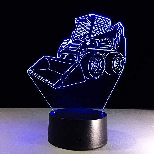 Enorme graafmachine, krik, mengpaneel, beton, transpleet, vrachtwagen, 3D, nachtlampje, bureaulamp, touchscreen, tafellamp, kleur verwisselbaar, afstandsbediening en touch