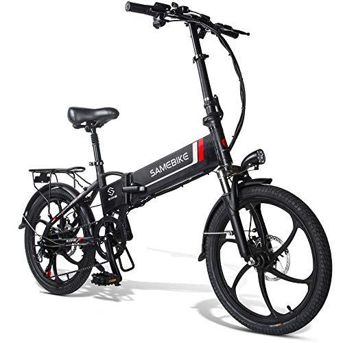 20LVXD30 bici elettrica, bici elettriche pieghevoli per adulti uomo donna 10,4 Ah 48 V 20 pollici con display LCD Shimano 7 velocità 3 modalità velocità massima 35 km/h bicicletta per città - nero