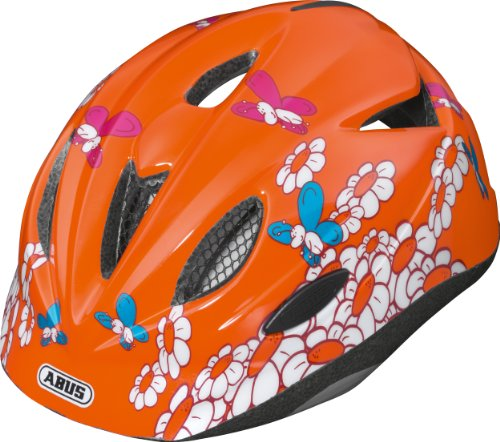 Abus Rookie - Casco de Ciclismo para niño Naranja Butterfly Talla:Medium