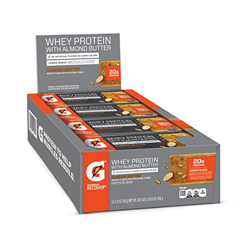 Gatorade Whey Protein With Almond Butter Bars Almond Butter 20 oz bars Pack of 12 20g of protein per bar