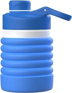 MoKo Collapsible Water Bottle, Portable Leak-Proof BPA Free 100% Food-Grade Silicone Folding Drinking Water Bottle 18oz fo...