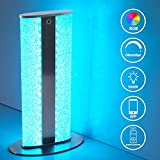 8W LED Table Lamp Dimmable, Oraymin 3000K WiFi Desk Lamp Crystal RGB Light Color Changing with Remote Control for The Living Room, TV Room, Bedroom, Playroom, Tuya App Control, Height 30CM