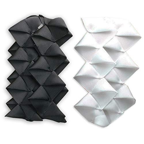 Neotrims Petersham Ruban/gros grain lavable en origami plissé Effet zigzag Largeur : 5,5 cm