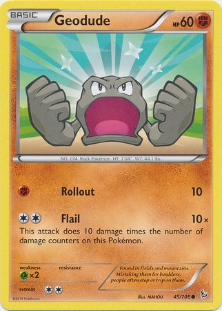Pokemon - Geodude (45) - XY Flashfire