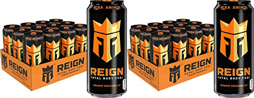 Reign Total Body Fuel, Orange Dreamsicle, Fitness & Performance Drink, 16 Oz (Pack of 12), 2 Pack