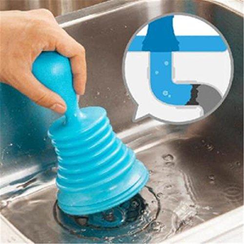 Hengsong Sturalavandini bloccata WC bagno di scarico sblocco lavelli pipe Cleaner Home Kitchen Tool Blue