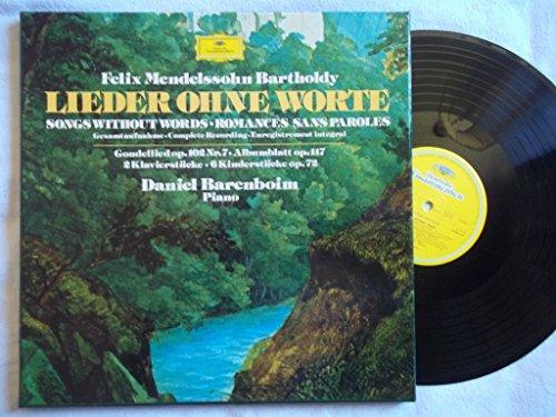 Felix Mendelssohn-Bartholdy - Daniel Barenboim - Lieder Ohne Worte - Deutsche Grammophon - 2740 104