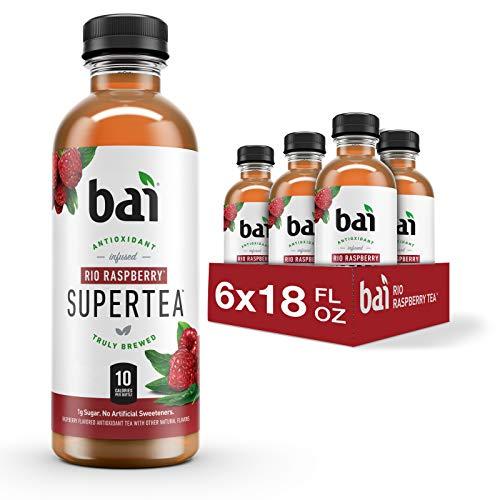 Bai Iced Tea, Rio Raspberry, Antioxidant Infused Supertea, Crafted with Real Tea (Black Tea, White Tea), 18 Fluid Ounce Bottles, 6 Count