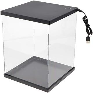 SM SunniMix 収納ケース 収納ボックス クリア ディスプレイケース フィギュア 人形 玩具 鉱物 3D展示 LEDライト付き
