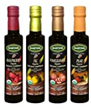 Mantova Organic Flavored Balsamic Vinegar of Modena 4-Variety Pack: Fig, Pear, Pomegranate, &...