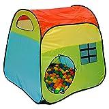 LittleTom Bällebad Spielzelt 100x100x102cm Popup Baby Spielhaus Kinder-Zelt Bunt