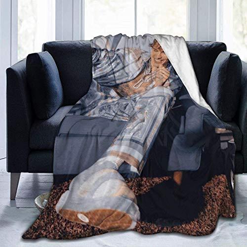 Justin-Bieber - Manta de franela de microforro polar ultrasuave para decoración del hogar, cálida y antibolitas, para sofá cama, sofá de 80 x 60 pulgadas