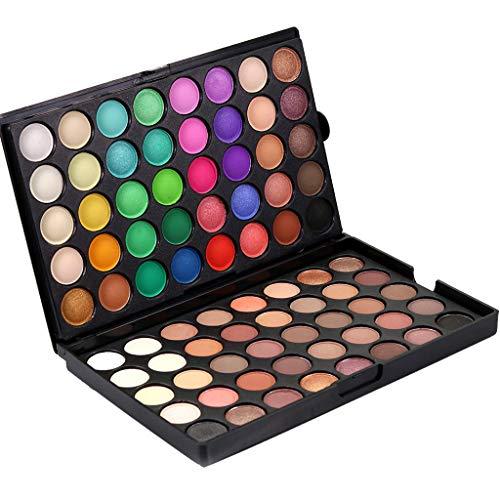 80 Farben Lidschatten Palette Set, Popfeel Glitter and Matte Eyeshadow, Langlebige Augen Make-up Karneval Party Makeup, Mädchen Kosmetik Geschenk
