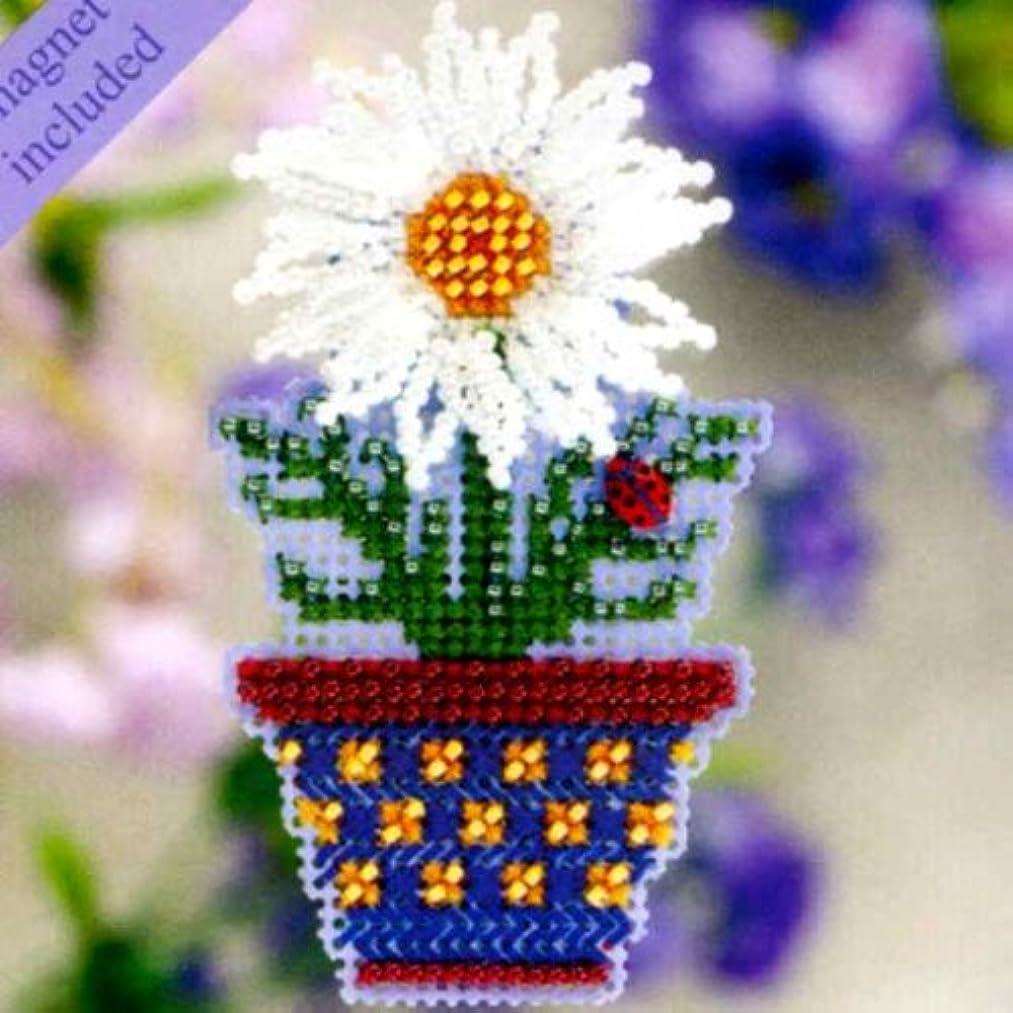 White Daisy Fridge Magnet Cross Stitch Kit