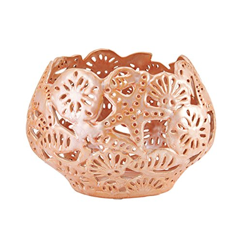 Elements Pink Coral Ceramic Bowl, 10x7-Inch, 7-Inch