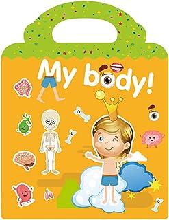 Kids Sticker Activity Book, Children Cognitive Guidance Stickers, Human Body