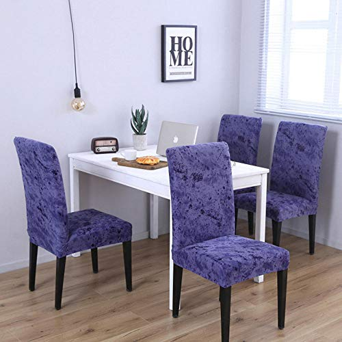 Slipcover Sets Color Reactive Printed Modern Dining Chair Covers Spandex Hotel Wedding Slipcover Kitchen Seat Cover(Does Not Contain Chairs)-1