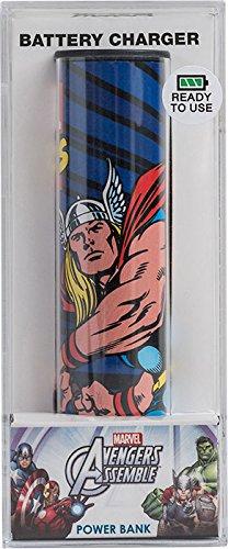 Tribe PB016303 2600 mAh Batterie Externe de secours Universal Smartphone Chargeur Motif Disney Marvel The Avengers Thor