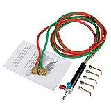 SODIAL Micro-Gas Torch Mini Gas Little Torch Soldadura Kit de soldadura con 5 puntas Soldadura a de soldadura Manguera flexible para instrumentos peque?os, reparación de joyas