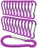 Outdoor Saxx® 20 unidades Mini Mosquetón, mosquetón de aluminio, mosquetón en S, mosquetón para...