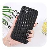 ティング熱放散冷却For IPhone 11プロマックスX XR XS 7 8 7プラスソフトシリコンバックケース通気性の電話カバー-Black-For iPhone X