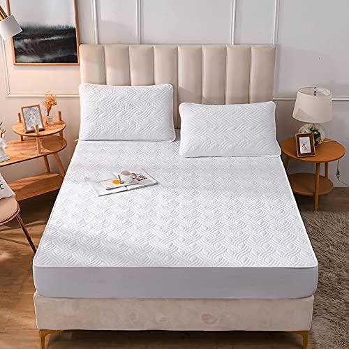 BAJIN - Lenzuolo matrimoniale con angoli, 100% cotone, con elastico sul materasso matrimoniale, 120 x 200 cm + 30 cm