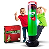 Inflatable Punching Bag for Kids - Strong Construction Freestanding Bounce Back Monster Boxing Toy / Air Bop Bag for Boys and Girls for Exercise and Stress Relief in Children Age 3-10   48 Inch Height