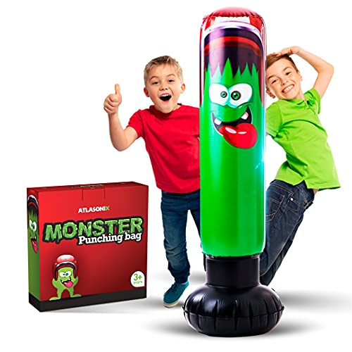 Inflatable Punching Bag for Kids - Strong Construction Freestanding Bounce...