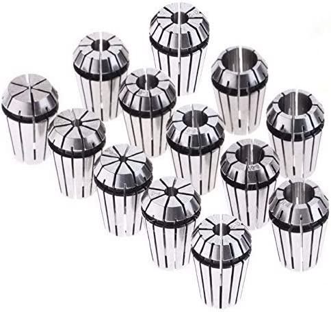 ZUQIEE CNC Lathe Courier shipping free shipping Los Angeles Mall Tool 13pcs 1-13mm ER20 Set Wo Collet Spring