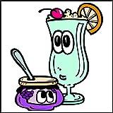 Adhesivo decorativo para azulejos de baño & de la cocina - para azulejos blancos se recomienda - de cocina azulejos para una sola fluir MD482 - deliciosas hielo-café
