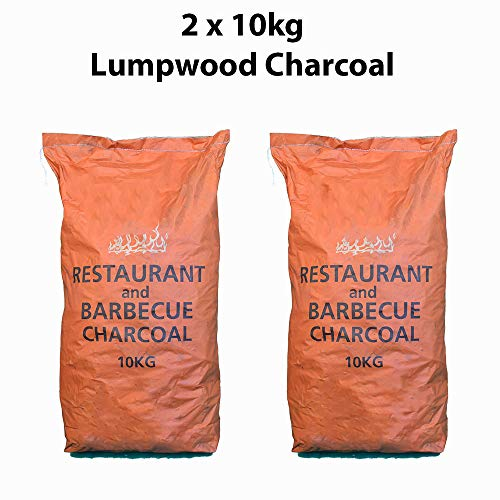 Restaurant Grade Cooking Lumpwood Charcoal 2 x 10kg, Perfect For Charcoal...