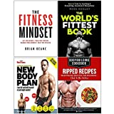 Fitness Mindset, Worlds Fittest Book, New Body Plan, Bodybuilding Cookbook 4 Books Collection Set