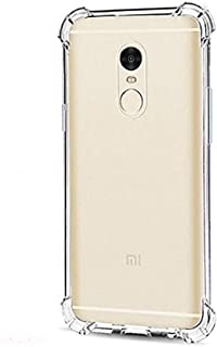 Amazon Brand - Solimo Mobile Cover (Soft & Flexible Shockproof Back Cover with Cushioned Edges)Transparent for Xiaomi Redm...