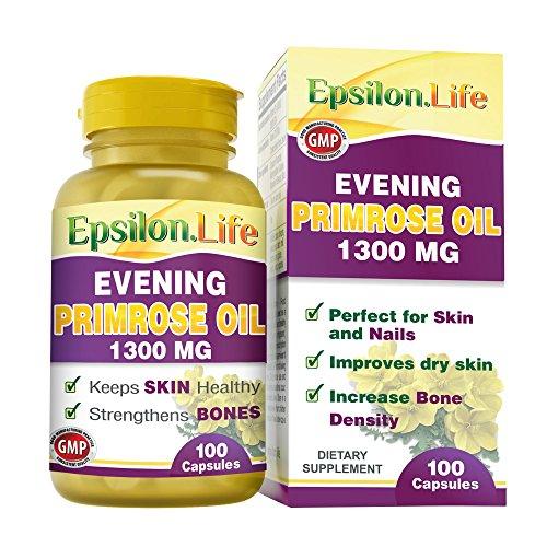 Aceite de Onagra 1300mg de Epsilon (100 Capsulas)