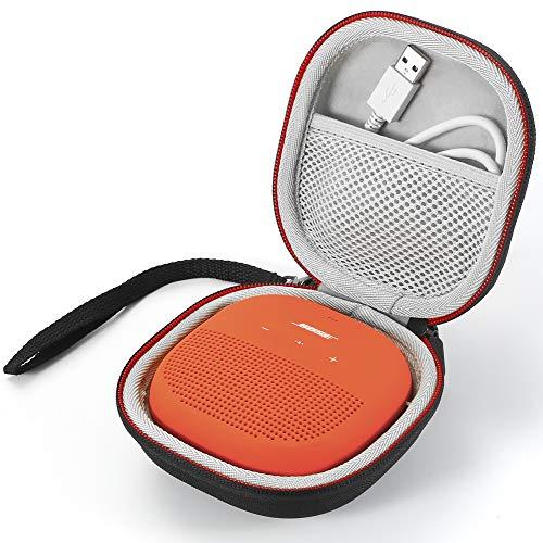 Hartschalenkoffer für Bose SoundLink Micro Bluetooth Lautsprecher - Passend für USB Kabel und anderes Zubehör. - Schwarz