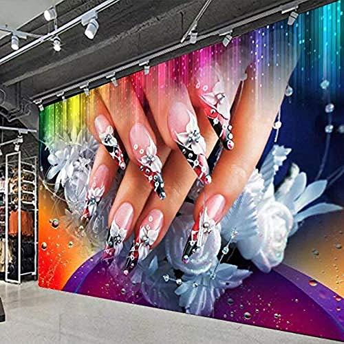 Nagel Make-up Nagellack 3D Wallpaper Kinderzimmer Wallpaper Jungen und Mädchen Zimmer Hotel Thema Hintergrund Wallp Wanddekoration fototapete 3d Tapete effekt Vlies wandbild Schlafzimmer-400cm×280cm